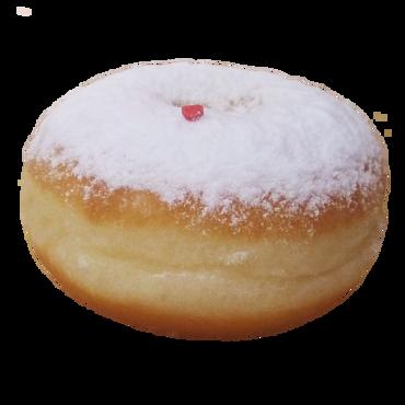 Пончик в сахарной пудре/Donat sugar donut с кремом